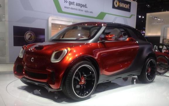 Smart ForStars Coupe Concept, front 3/4 view - NAIAS