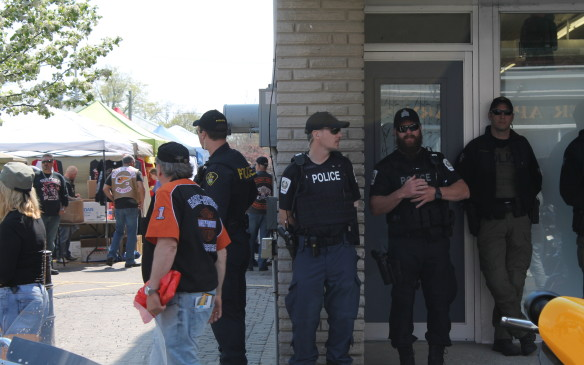 <p>There were plenty of police around too, just in case, but everything stayed orderly and enjoyable.</p>