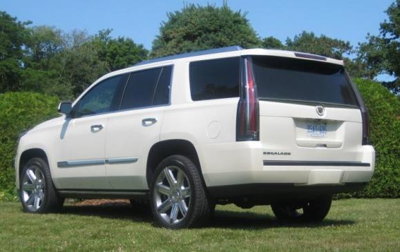 2015 Cadillac Escalade - rear 3/4 view low