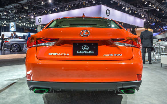 <p>The Sriracha IS actually is an all-wheel drive Lexus IS300. Pricing for the car, sans the Sriracha treatment, starts at $42,950 in Canada.</p>