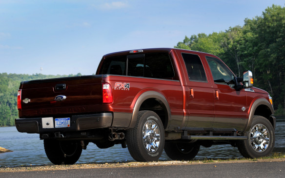 <p>Ford's Super Duty outscored Chevrolet's Silverado HD in the large heavy duty pickup category. No other models exceeded the average score for the segment.</p>