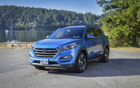 <p><strong>Highest-ranked Small SUV: Hyundai Tucson.</strong></p> <p>Runners-up: Subaru Crosstrek and Volkswagen Tiguan</p>