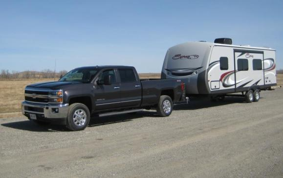 2015 GMC Sierra HD - trailer towing full view