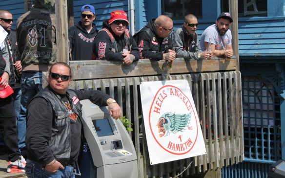 <p>Not everyone was so chatty. The local Hell's Angels were friendly enough and had a booth selling T-shirts, but kept to themselves.</p>