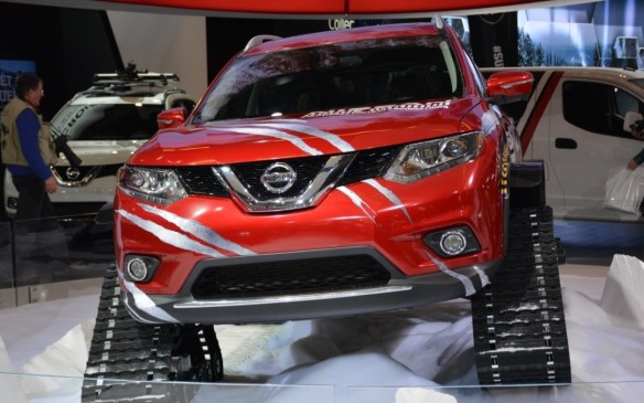 <p>The Nissan Rogue Warrior was modified by the Quebec-based Motorsports in Action (MIA) team that customizes all of the Nissan Micra Cup racing cars for the series. The company is an off-road prototype specialist that has been featured in a video helping skiers make their way up a ski hill. It pushes the limits at Nissan, but don't expect a vehicle with snow tracks be coming into production any time soon.</p>
