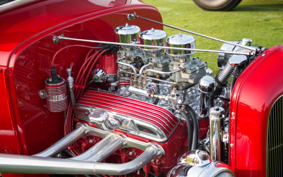 <p>The horsepower on the field wasn't confined to the race cars for there was a full class of hot rods and customs as well.</p>