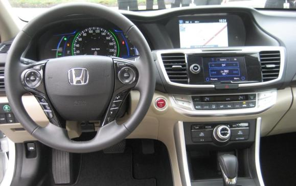 2014 Honda Accord Hybrid - steering wheel and instrument panel