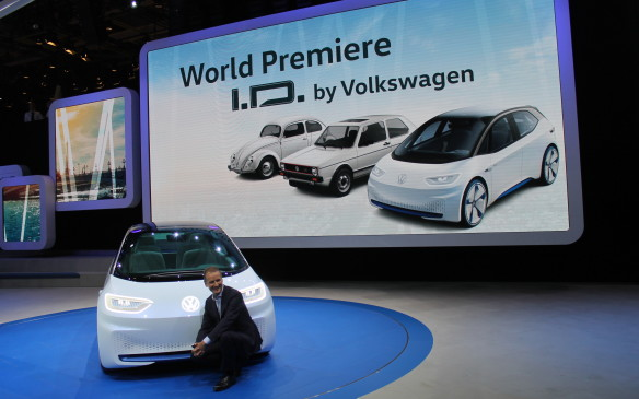 <p>Herbert Diess, the head of Volkswagen, says the company is moving to dominate the electric car market, and the I.D. is the first of many new VWs to completely avoid gasoline or diesel. The company plans to build one-million electric cars by 2025.</p>