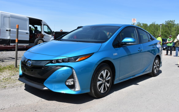 <p><strong>2017 Toyota Prius Prime</strong></p> <ul> <li>Price starting at $32,990. 1.8-litre four-cylinder engine and Hybrid Synergy Drive; electronically controlled CVT.</li> <li>Net power: 121 hp (90 kW.)</li> <li>Fuel economy: 1.8 Le/100 km (electricity and gas); 4.3 L/100 km (gas only combined); AJAC fuel consumption: 3.3 L/100 km combined.</li> </ul>