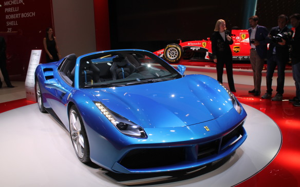 <p>Of course, no European auto show is complete without a new Ferrari.</p>