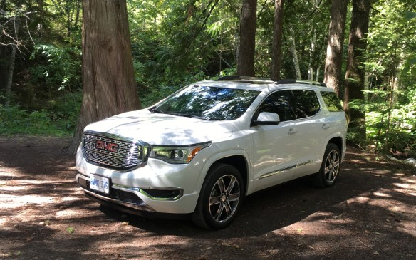 <p>Pricing for the base Acadia SLE with front-wheel drive starts at $34,995, which is $2,525 less than the 2016 base model, yet it has more standard equipment, including a new IntelliLink system with Apple CarPlay and Android Auto compatibility. Adding all-wheel drive boosts the base price by $3,000. The mid-range SLT trim with all-wheel drive starts at $47,295, while the All Terrain AWD, with its enhanced off-road capability, starts at $49,390. The premium Denali edition has a starting price of $54,695. Destination charges for all models are $1,700. The Acadia is assembled in Spring Hill, Tenn.</p>