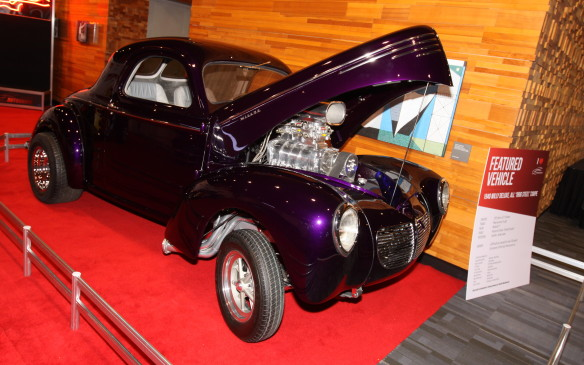<p>This locally-owned, all-steel 1940 Willys 'Gasser' drag racer is powered by a blown Chrysler 392 Hemi, faithful to the way these cars were raced 50 years ago.</p>