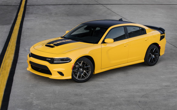 "<p>The hottest model in the Charger lineup, the SRT Hellcat, gets some cosmetic changes for 2018, including a new grille and fender badges, plus the availability of a new ""Demonic Red"" Laguna leather interior. Other models in the lineup haven't been overlooked, however. The Pentastar V-6 engine is now offered in four models: the SXT, SXT Plus, GT and GT Plus. The SXT and SXT Plus are now available with leather seating, while all-wheel drive is available on the GT and GT Plus. The available Super Track Pak with Nappa/Alcantara performance seats (when packaged with the leather group) gives the SXT Plus a more performance-oriented look, while the GT AWD comes standard with 300 horsepower, Dodge Performance Pages, gloss black fascia applique and 19-inch aluminum wheels. Optional red Brembo brake calipers are available on the Charger R/T Scat Pack and Daytona 392, while he Uconnect 4 system with Apple CarPlay and Android Auto is now standard on the Charger SXT. A rear back-up camera and rear park assist are now on all models, while more than 80 safety and security features, such as full-speed forward collision warning, adaptive cruise control with full stop and lane departure warning with lane keep assist, are available.</p>"