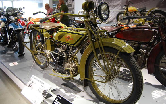 """<p>With the introduction of Harley-Davidson's first V-twin engine, the firm attempted to expand its market by offering a new Model W """"Sport Twin,"""" intended to appeal to entry-level riders.The Model W """"Sport Twin"""", also named the flat-twin, aligned the cylinders with the frame, had a modern oiling system and employed an integrated transmission and clutch, making it a smoother riding machine.</p> <p>The Model W was discontinued in 1923, despite Harley-Davidson's efforts to attract sufficient sales.</p>"""