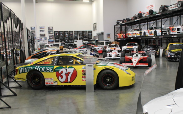 <p>Toyota is very proud of its collection of racing cars, including NASCAR, IndyCar, IMSA and SCORE contenders, which hold a prominent place in the museum.</p>