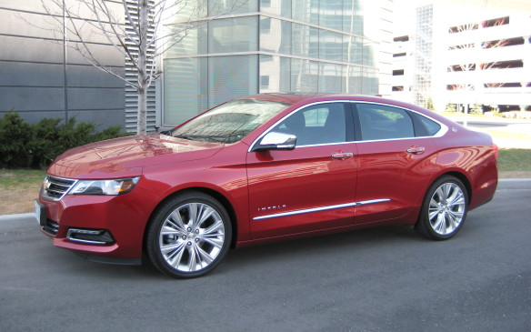 <p>This production line also assembles the Chevrolet Impala sedan, shown here, the Buick Regal sedan and the premium Cadillac XTS sedan.</p>