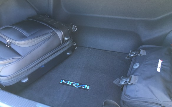 <p>Access to the trunk is good, although the space available is slightly limited by the hydrogen storage tank positioned behind the trunk bulkhead. Still, there's a sufficient room for several travel bags or a load of groceries.</p>