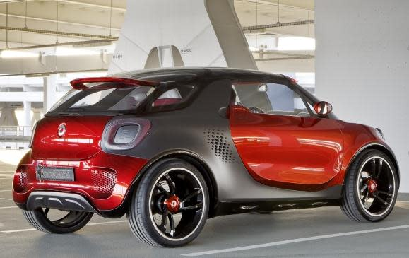 Smart Forstars Coupe Concept - rear 3/4 view