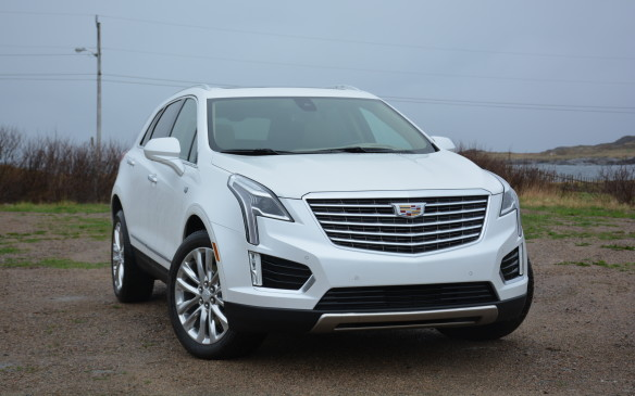 <p>The 2017 XT5, formerly known as the SRX is the latest reinvention from Cadillac. It sits on an all-new platform that sheds 132 kg thanks to a combination of high-strength steel on its body and aluminum inside the cockpit and surrounding its new 310-hp 3.6-litre V-6 engine. Its styling stands out with plenty of chrome and cool-looking LEDs.</p>