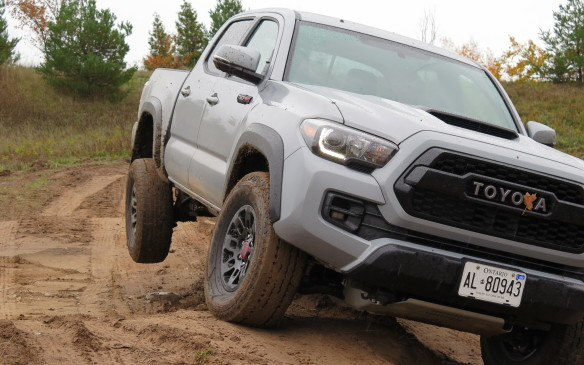 <p>All those years of working on off-road specific conditions, have resulted in a suspension setup that combines control and forgiveness as we found out during several 30-minute laps of a course created to show the capabilities of the tricked-out Toyota trucks in Ontario's Blue Mountain resort area.</p>