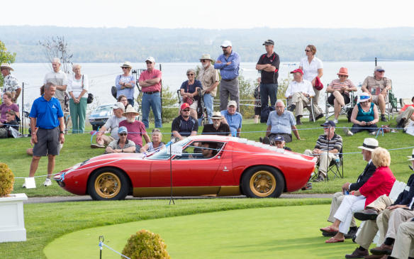 <p>The fifth annual Cobble Beach Concours d'Elegance, Canada's most prestigious classic car show, took place in glorious summer sunshine on September 17, 2017 at the magnificent Cobble Beach Golf Resort Community on the shores of Georgian Bay, near Owen Sound, Ontario – a setting worthy of the spectacular cars that took part, such as the sleek Lamborghini Miura seen here.</p>