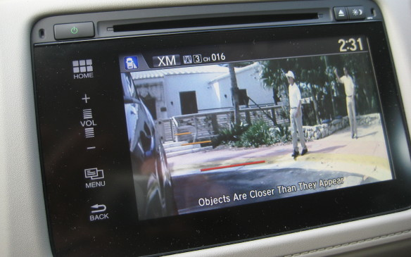 <p>Standard-equipment safety features in the HR-V include a multi-view rearview camera, with three available modes: wide, normal and overhead. The guidelines on the rearview image are dynamic, moving in tune with the position of the steering wheel. Honda's exclusive LaneWatch technology is also standard on the EX and EX-L models.</p>