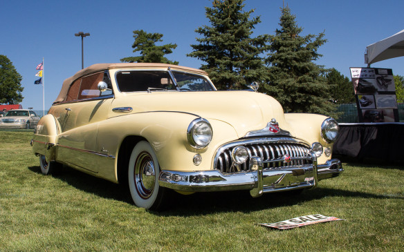<p>Another Buick convertible of similar vintage was for sale in the vendor area.</p>