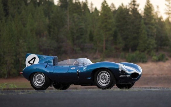 <p>Even rarer is this 1955 Jaguar D-Type campaigned by the privateer race team Ecurie Ecosse and driven to victory in the 1956 24 Hours of Le Mans by Ron Flockhart and Ninian Sanderson. It is the first series production D-Type and the first to be designated such. It is the only Le Mans-winning C- or D-Type that has survived intact and remained essentially original to its winning form. Which is why it is expected to sell for $20-to$25-million (USD) at RM Sotheby's.</p>