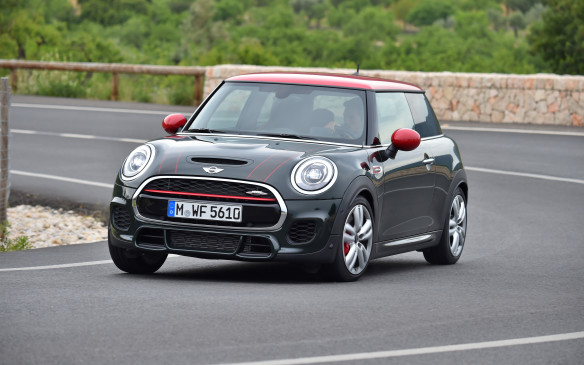 <p>Now called a 3-door, to differentiate it from the just-introduced 5-door model, the John Cooper Works version replaces the base car's three-cylinder engine with a 12-valve,four-cylinder that employs a twin-scroll turbocharger to pump out 228 horsepower.</p>