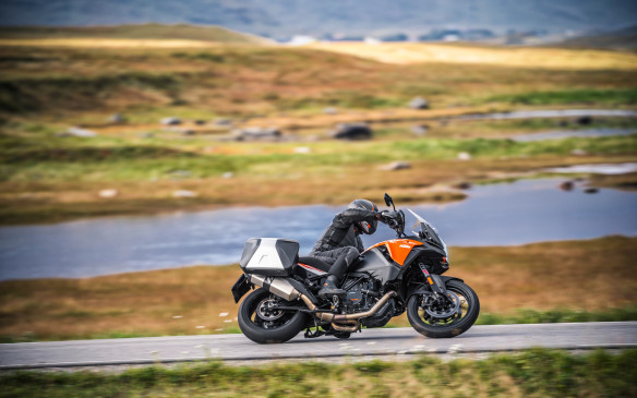 <p>The extra power makes for 158 hp in total, which is far too much for most riders to handle on dirt roads but quick and rewarding on asphalt. The big KTM has a 21-inch front tire, which makes it easier to control in gravel, and enough electronic software to dial in the kind of ride you want</p>