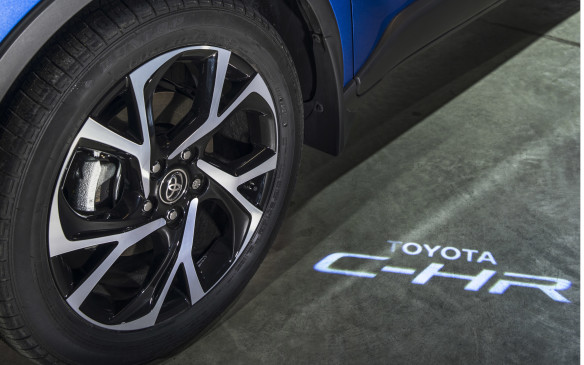 <p>It even includes puddle lamps that illuminate the ground beside the doors at night with the C-HR logo, to avoid stepping into puddles. This classy touch is unusual at this price.</p>