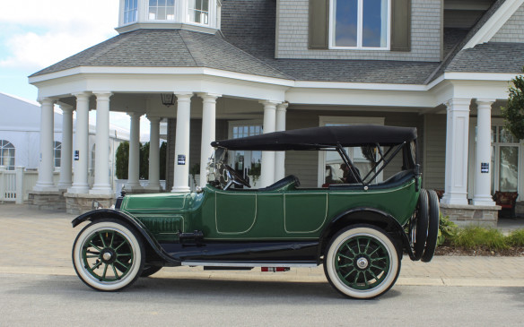 <p>This 1915 Cadillac Type 51 V-8 was the oldest of the Cadillac brigade. In addition to being 100 years old, it also holds the distinction of being the first model built in America with a V-8 engine.</p>