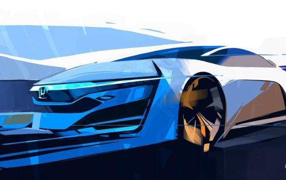 Honda FCEV Concept teaser sketch