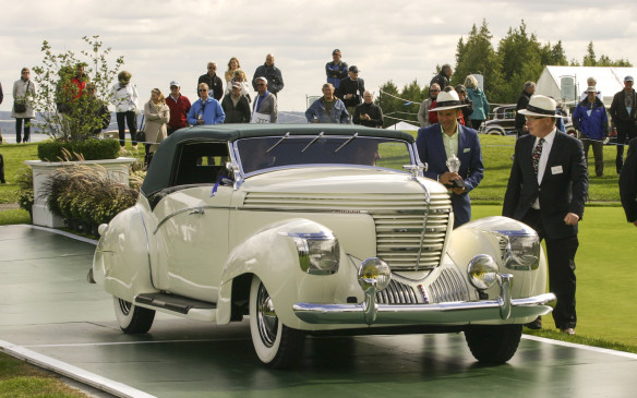 "<p>Another American convertible, this 1938 Graham 97 Supercharged Cabriolet, was judged the ""Best of Show"" at Cobble Beach. For good reason: it's one of just two such models built by the flamboyant French coach-builder, Jacques Saoutchik for the 1938 Paris motor show.</p>"