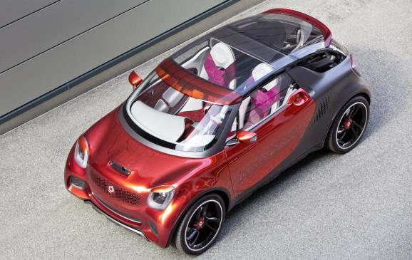 Smart Forstars Coupe Concept - overhead view