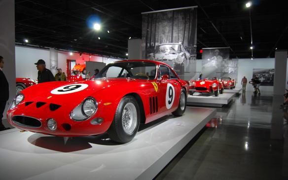 <p>Between the TR and the LM came the GTO, arguably the most famous and among the most valuable Ferrari GT cars of them all. Only 39 GTOs were built. While this car looks like a GTO, it is not. It's an even rarer 330 LMB.</p>