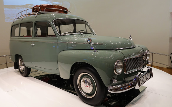<p>Volvo wagons have been famous and popular for more than half a century. It all started in 1953 with the Duett, built by adapting a ladder frame and leaf spring rear suspension to the unit-body structure of Volvo's PV sedan of the time, to turn it into a sturdier and more practical utility vehicle. The Duett was produced until 1969, evolving gradually and making way for a long line of Volvo wagons. The pristine example pictured here is a P210 model from the early Sixties, displayed in an airy Volvo showroom set in the heart of Stockholm.</p>
