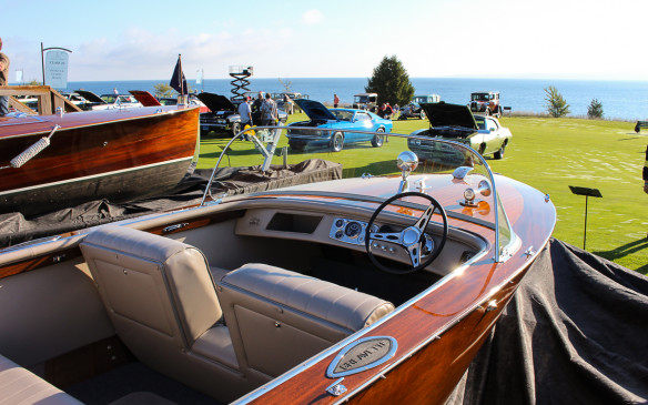 <p>Also back for the second time, was a display class for classic wooden boats and speed-boats – a natural addition given the waterfront setting.</p>
