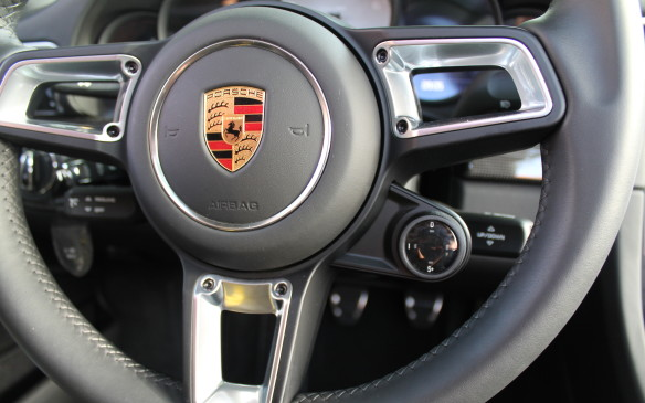 "<p>If you have the optional Sport Chrono package, the steering wheel includes a drive mode selector dial, which lets you choose between Normal, Sport, Sport Plus, and ""Individual.""</p>"