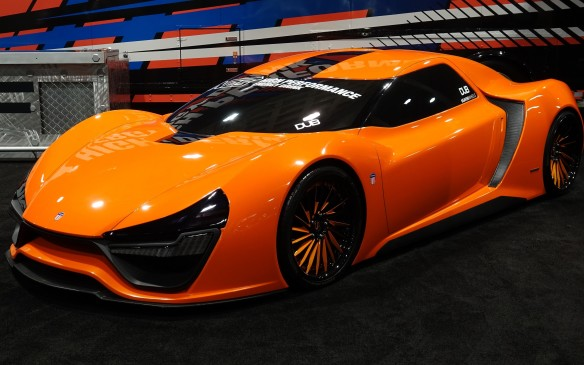 <p>The Nemesis is an American supercar that California-based Trion Supercars promises to start selling in the spring of 2017. It is built around a carbon fibre monocoque with a 9.0-litre, twin-turbo V-8 mounted in front – surprisingly. It's said to produce 2000 hp, routed to all four wheels through an eight-speed sequential transmission. Four models are planned, including a plug-in hybrid and a pure electric. Prices run from $US 1.2 million to a cool $US 1.98 million for the 'Black Ops Edition'. Lacking no ambition, Trion is projecting a 0-60 mph sprint in 2.8 seconds and a top speed of more than 435 km/h (270 mph) for the Nemesis RR. Bugatti and Koenigsegg beware. Maybe.</p>