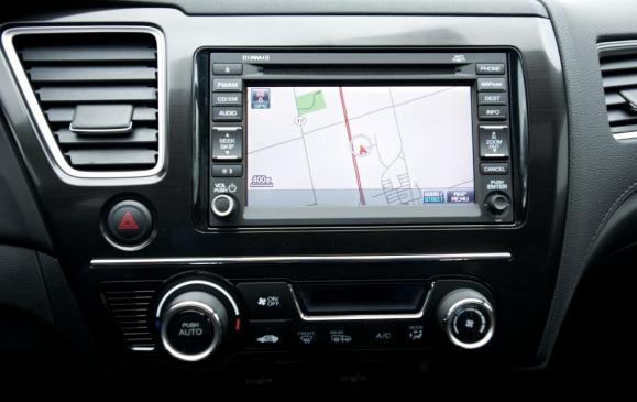 2013 Honda Civic sedan - navigation screen