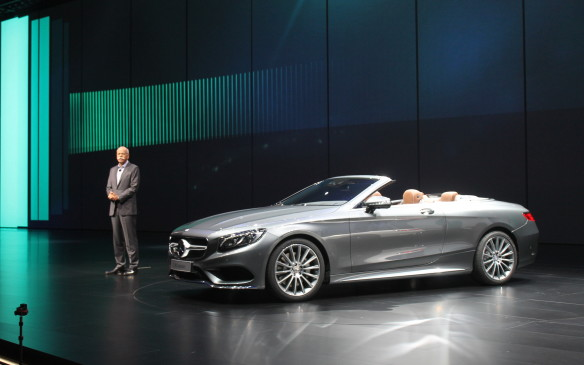 <p>Also topless, and also on stage with Mercedes, is the new S-Class Cabriolet. It uses 12 heaters and 18 actuators to keep the climate just as you want it, whether the roof is up or down.</p>