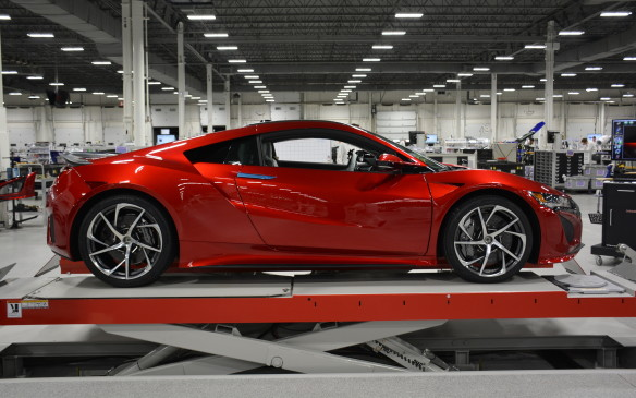 <p>The 2017 NSX is a two-door coupe that has enough angles and design-cuts to leave one breathless. This new second-generation version uses a longitudinally-positioned 3.5-litre V-6 engine with a pair of turbochargers and a trio of electric motors to produce a combined total of 573 horsepower and 476 lb-ft of torque. It's all matched to a nine-speed dual-clutch gearbox and uses Acura's Sport Hybrid Super Handling all-wheel-drive system, a first for any supercar.</p>
