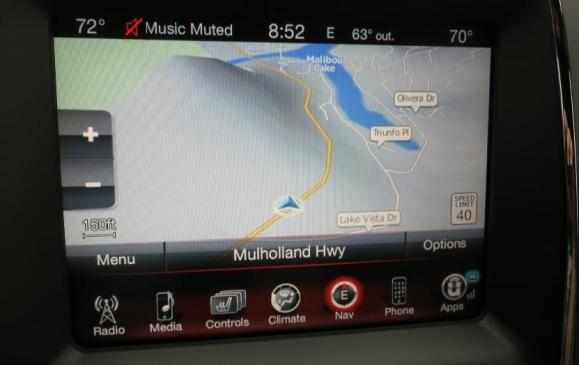 2014 Dodge Durango - navigation screen detail