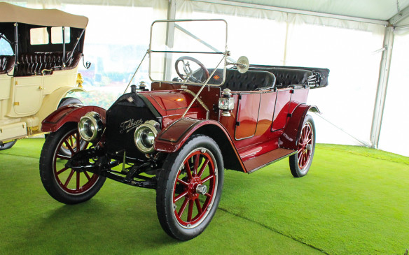 <p>There was another very significant Canadian car - a 1912 Tudhope Model 4-36 - back in the Museum tent. Tudhope, like Mclaughlin, was a prominent carriage builder that evolved into an early automaker, based in Orillia, Ontario, where this restored example now resides. The company ceased auto production with the onset of WW1.</p>