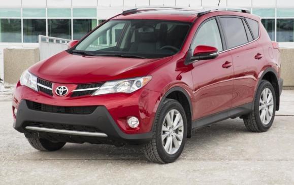 2013 Toyota RAV4 - front 3/4 view