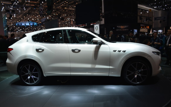 <p>Intended for much higher production numbers, Maserati showed off its first-ever SUV – the Levante. It's a big step for a company that has been built on luxury and performance but now enters a new world of raised platforms and 4X4s. Three engines will be offered, including a diesel, all in 3.0-litre V-6 frm. The top-ranging S model prduces 430 horsepower and 427 lb-ft of torque. All Levantes will feature all-wheel drive and they will go on sale in September of this year.</p>