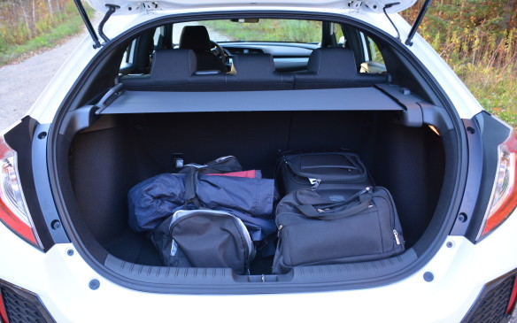 <p>The hatch not only has a segment-leading 728 litres of cargo space behind the second row, it also has one of the largest load-floor areas, 1,120 mm wide and 960 long. It can hold either three golf bags or two large and two mid-size suitcases.</p>