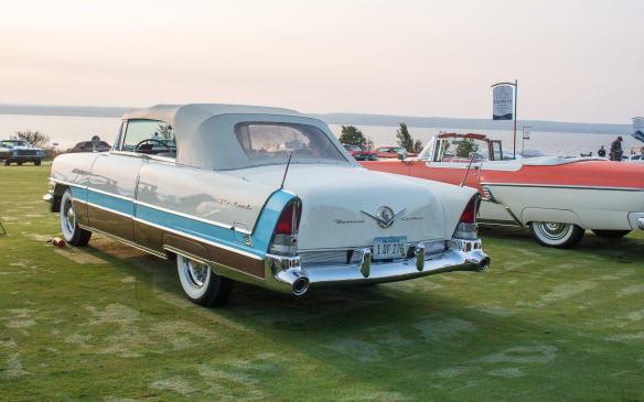 """<p>This1956 Packard Caribbean – from the last year of the """"real"""" Packards – was judged Best in Class.</p>"""