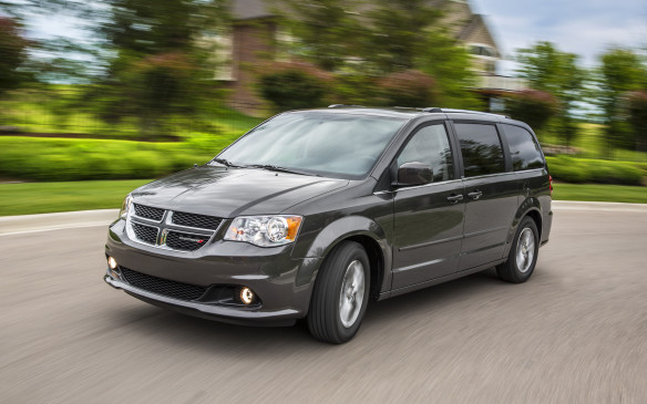 <p>The Grand Caravan minivan lineup consists of four models for 2018: the SE, SE Plus, SXT and GT, all powered by the 283-horsepower, 3.6-litre Pentastar V-6 engine. Standard features on the entry-level SE model include remote keyless entry, sunscreen glass, heat and air conditioning in all three rows, third-row Stow 'n Go with available tailgate seating, 6.5-inch touchscreen radio with rear backup camera, power locks and power windows in all three rows, power heated mirrors, as well as safety features such as trailer sway damping, electronic stability control, seven airbags and daytime running lights. The SE Plus adds 17-inch aluminum wheels, premium cloth seats with silver accent stitching, leather-wrapped steering wheel and shift knob, second-row Super Stow 'n Go and Uconnect Handsfree Group, while SXT upgrades include leather seats with suede inserts and silver accent stitching, automatic headlamps, fog lamps, power eight-way driver seat, power sliding doors and liftgate and Stow 'n Place roof rack. The Grand Caravan GT includes a unique performance suspension, monochromatic exterior, premium leather interior with red accent stitching, a nine-speaker audio system, 6.5-inch touchscreen radio with navigation, rear backup camera and remote start.</p>